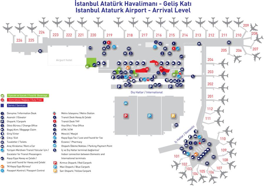 карта стамбула аэропорт