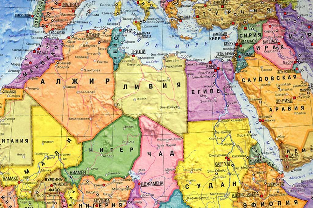 Где находятся тунис на карте мира и какое там море